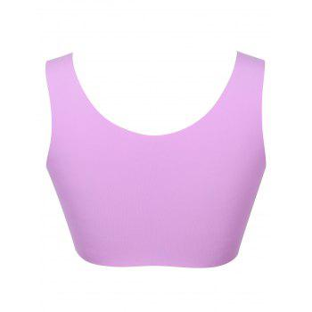 Longline Padded Comfortable Bra - PURPLE XL