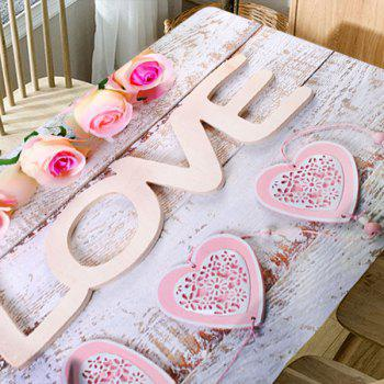 Saint Valentin Roses Love Hearts Imprimé tissu de table imperméable - multicolore W54 INCH * L54 INCH