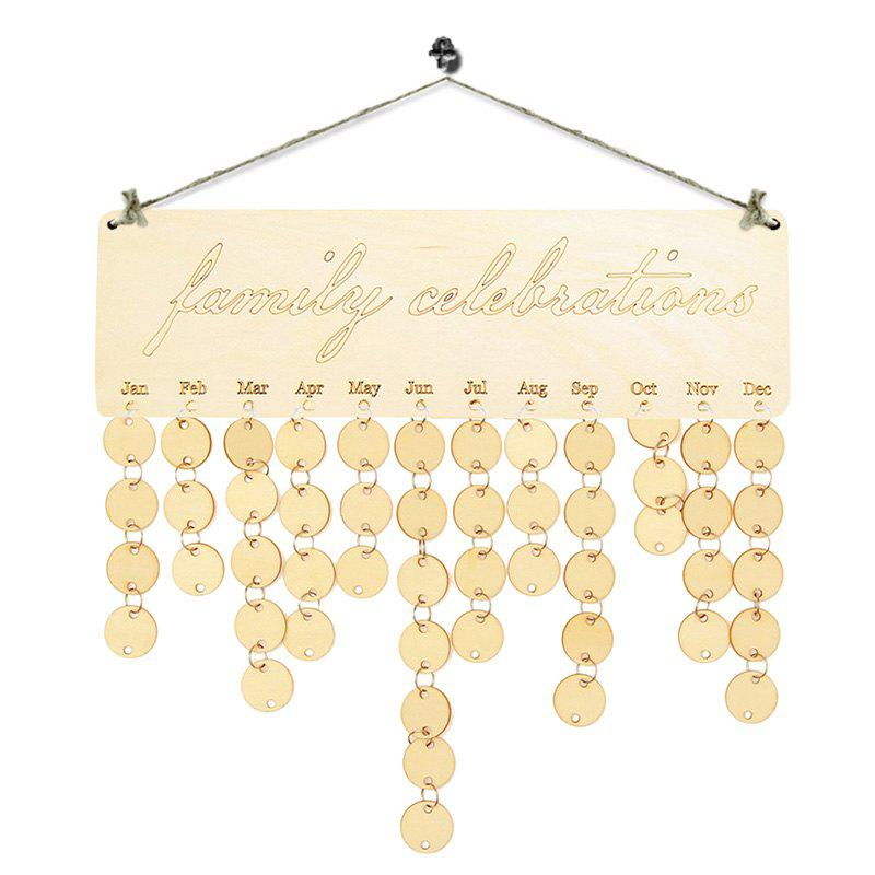 DIY Wooden Family Celebrations Birthday Calendar - WOOD
