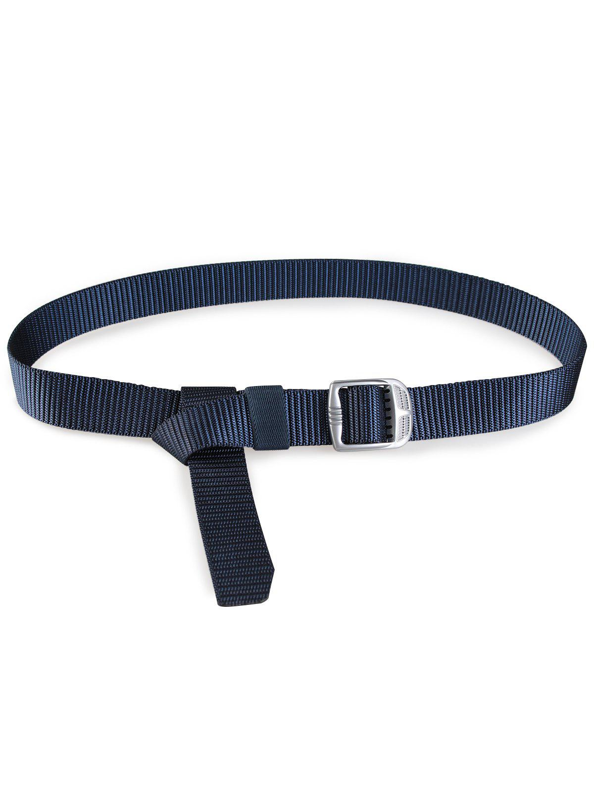 Men's Adjustable Military Canvas Waist Belt - CERULEAN