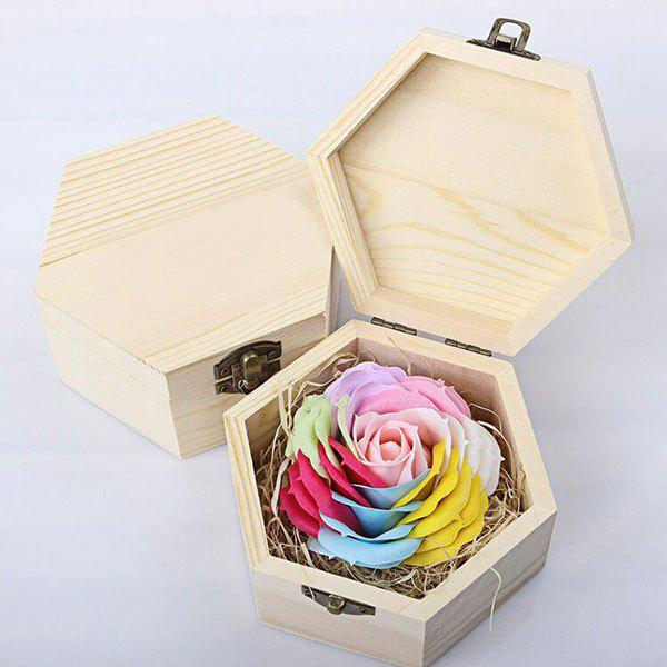 Hand-carved Rose Soap Scented Gift-set In Decorative Wood Case - JUBILEE