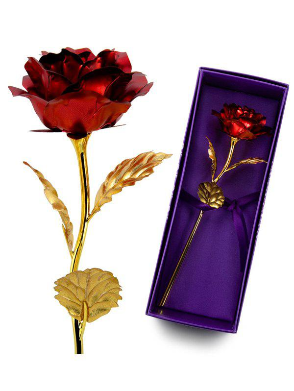 Valentine's Day Artificial Rose Flower In A Box - RED
