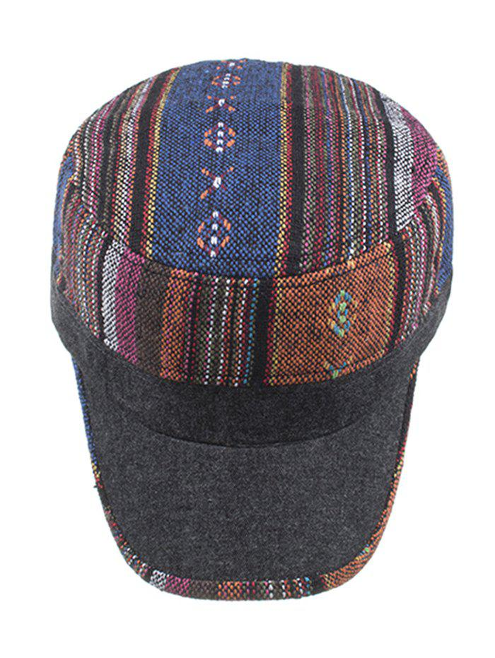 Vintage Ethnic Style Flat Top Military Hat -