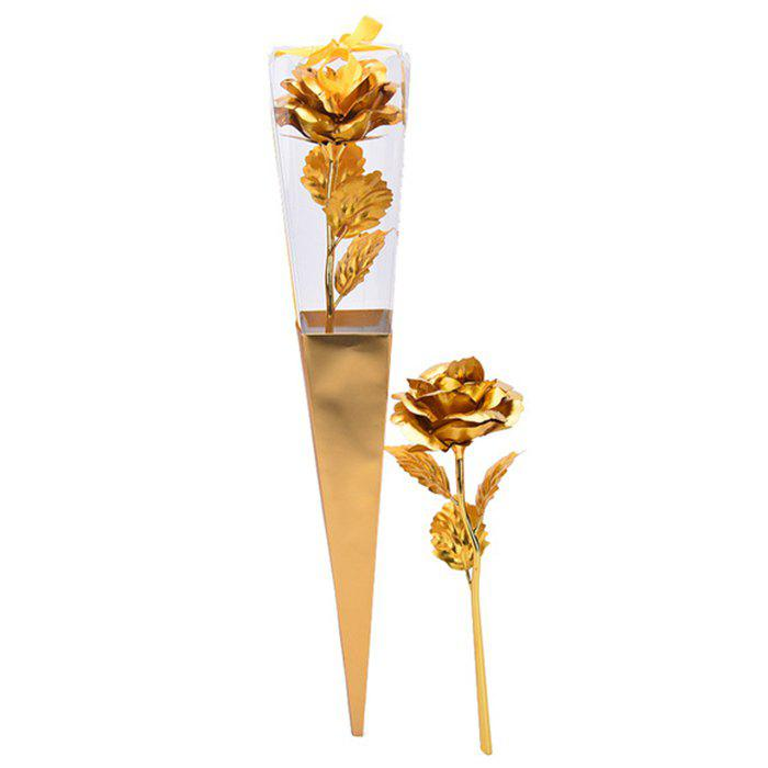 Artificial Plated Rose Flower Valentine's Gift диски helo he844 chrome plated r20