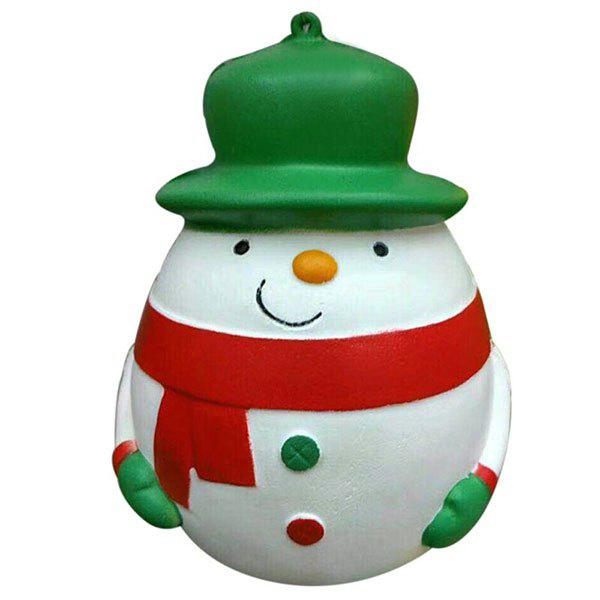 Plump Snowman Slow Recovery Squeeze Stress Reliever Toy - GREEN