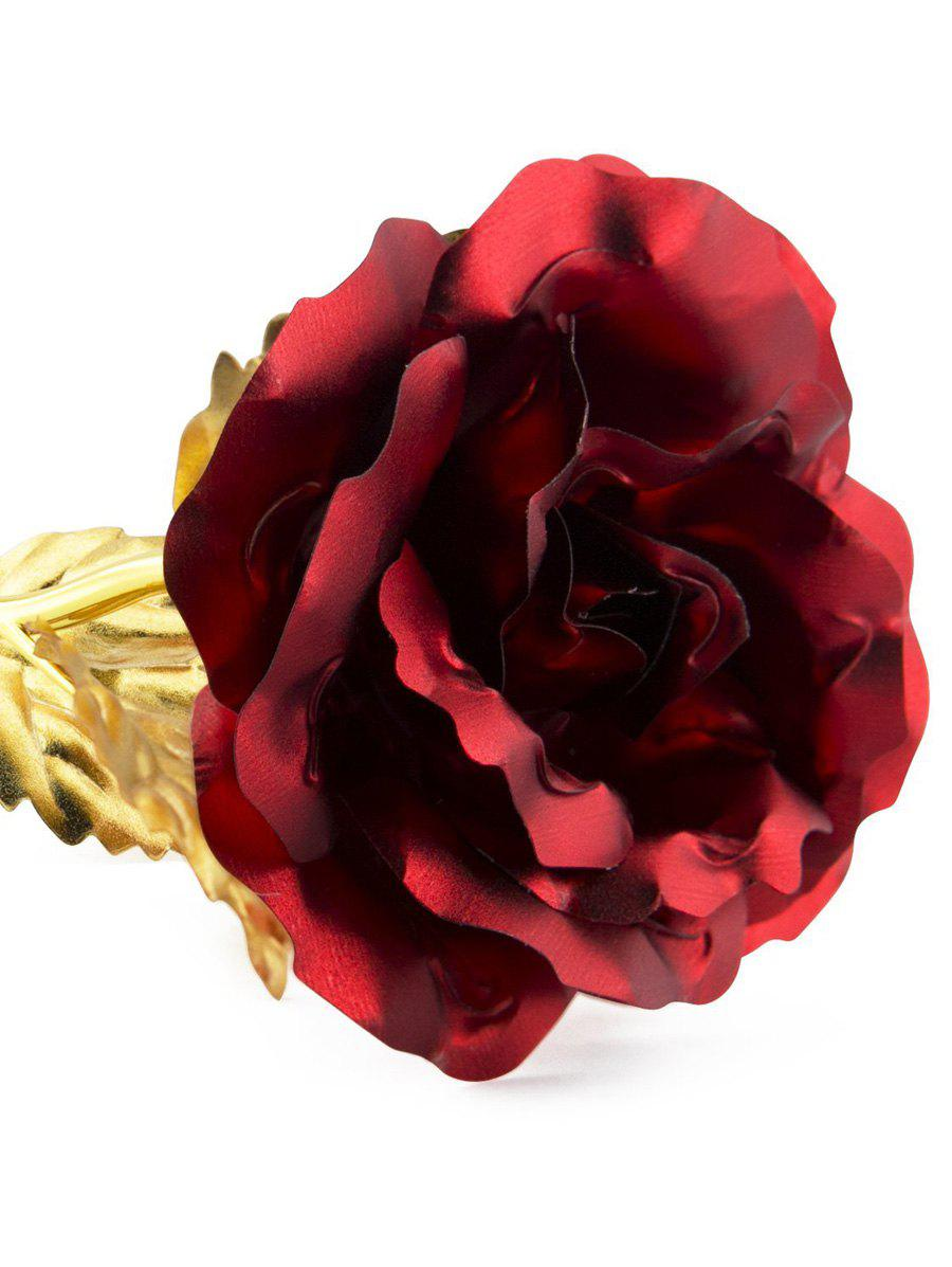 Artificial Rose Flower with Holder In A Box Valentine's Day Gift - RED
