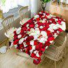 Valentine's Day Petals Printed Waterproof Table Cloth - RED/WHITE W60 INCH * L84 INCH