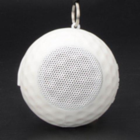Mini Portable USB Charging Sports Ball Bluetooth Speaker - WHITE