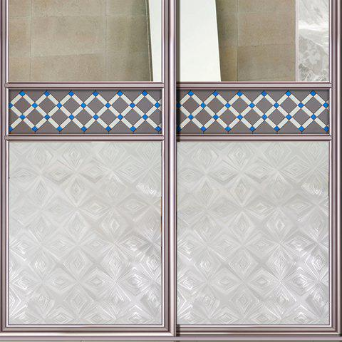 One Roll Rhombus Jacquard Window Film Sticker - WHITE