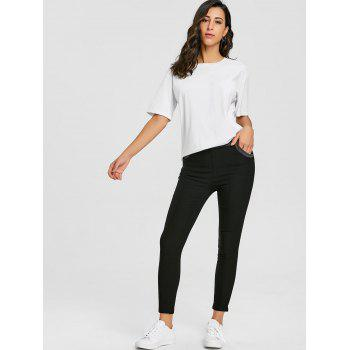 Skinny High Waisted Pencil Pants - BLACK BLACK