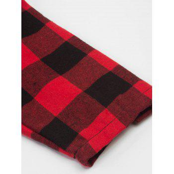 Vintage Plaid Fit and Flare Swing Dress - RED 2XL