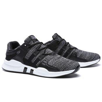 Lace Up Breathable Sneakers - BLACK/GRAY 42
