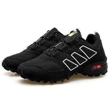 Breathable Color Block Outdoor Hiking Trainers - BLACK 41
