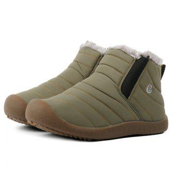 High Top Stitching Casual Shoes With Faux Fur - Army Green 40 buy cheap excellent OagrtY