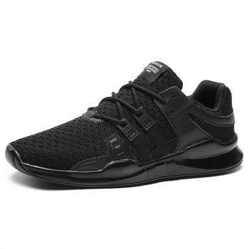 Lace Up Breathable Sneakers - BLACK 44