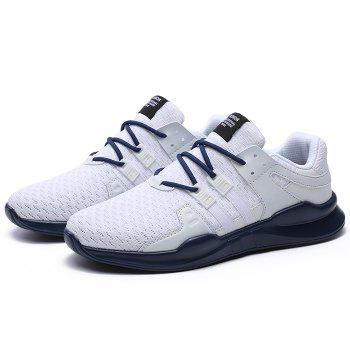 Lace Up Breathable Sneakers - BLUE/WHITE 44