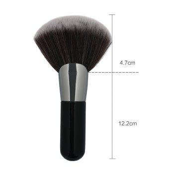 Professional Fan Shaped Ultra Soft  Fiber Hair Makeup Brush - BLACK