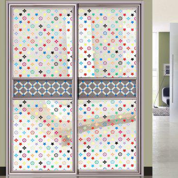 Wall Decal Little Star Printed PVC Electrostatic Glass Sticker - FLORAL WHITE