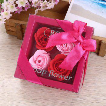 Soap Rose Flower In A Box Valentine's Day Gift - RED RED