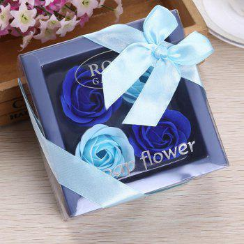 Soap Rose Flower In A Box Valentine's Day Gift - BLUE BLUE