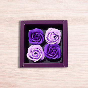 Soap Rose Flower In A Box Valentine's Day Gift - PURPLE 11*11*5CM