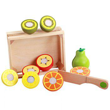 Playhouse Early Educational Toys Wooden Cutting Fruit - COLORMIX