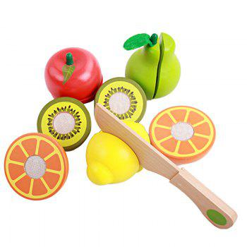 Playhouse Early Educational Toys Wooden Cutting Fruit - COLORMIX COLORMIX