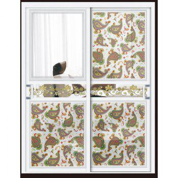 One Roll Paisley Pattern Window Film Sticker - WHITE