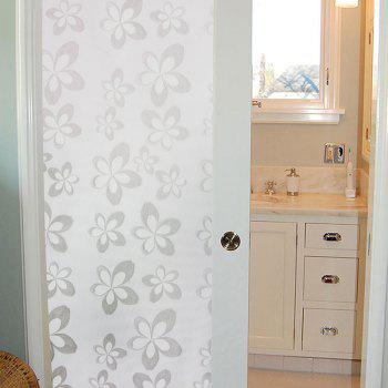 One Roll Handpainted Flower Pattern Window Film Sticker - WHITE