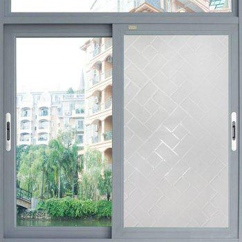 One Roll Brick Block Pattern Window Film Sticker -  WHITE