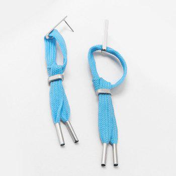 Alloy Rope Knot Statement Earrings - SKY BLUE