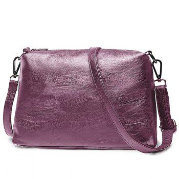 PU Leather 2 Pieces Handbag Set -  PURPLE