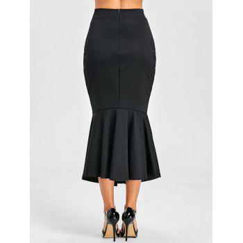 Bodycon Mermaid Midi Jupe - Noir 2XL
