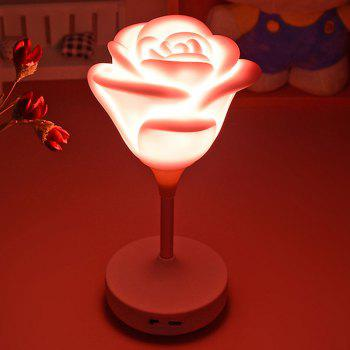 Valentine's Day Gift Rose Shape LED Touch Night Light - PINK