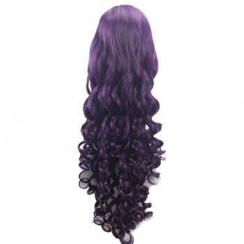 Ultra Long Side Part Loose Wave Heat Resistant Synthetic Wig -  PURPLE