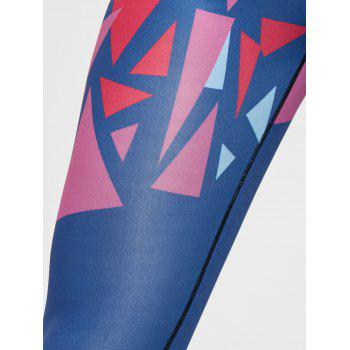 Geometric Print Leggings - FLORAL S