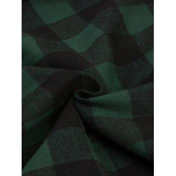 Vintage Plaid Fit and Flare Swing Dress - GREEN S