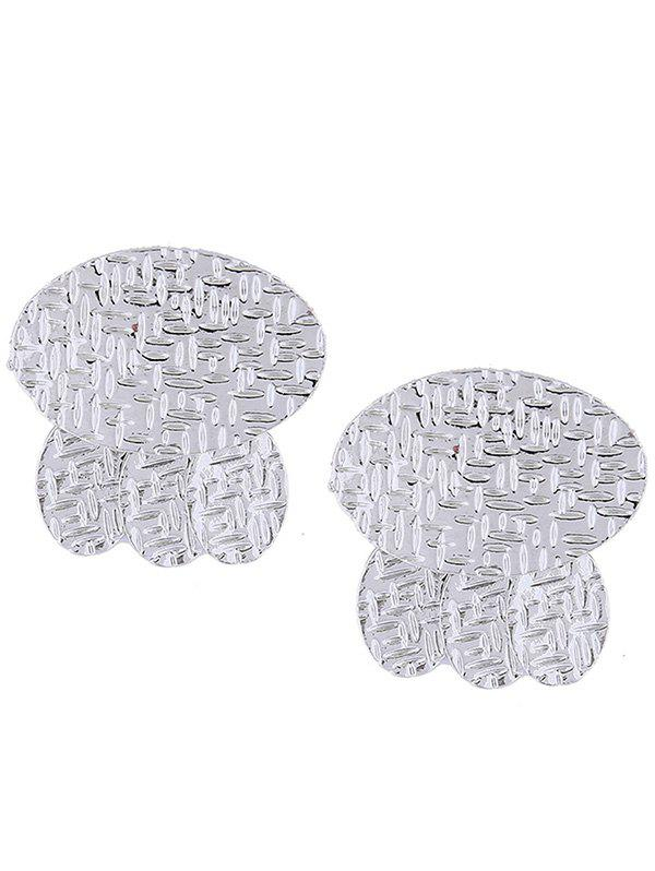 Alloy Geometry Splice Pattern Embellished Earrings graffiti pattern splice sneakers