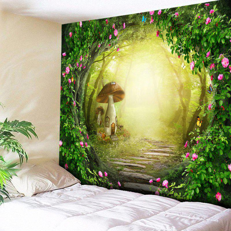 Fantasy Mushroom House Pattern Decoratrive Wall Hanging Tapestry