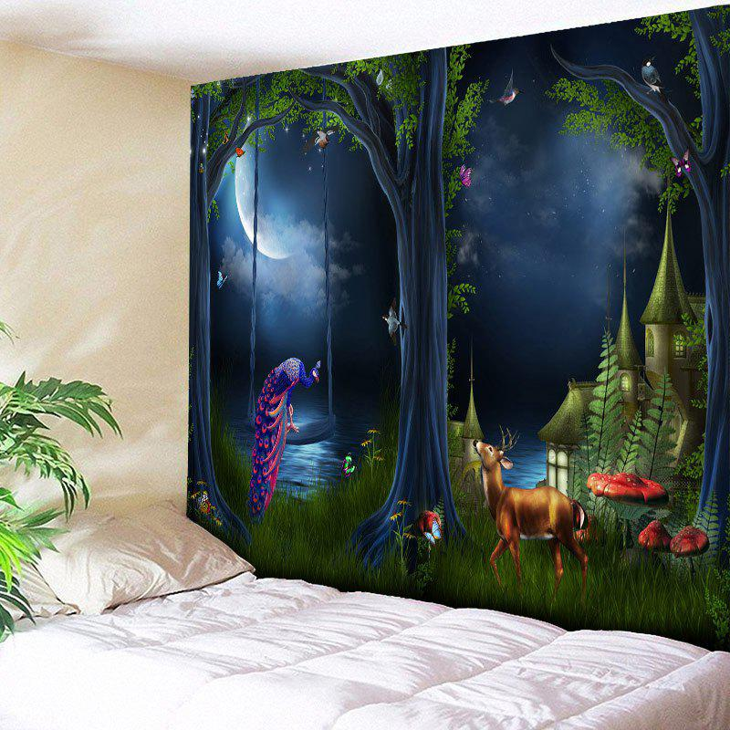 17 Off 2019 Wall Hanging Magic Forest Printed Tapestry