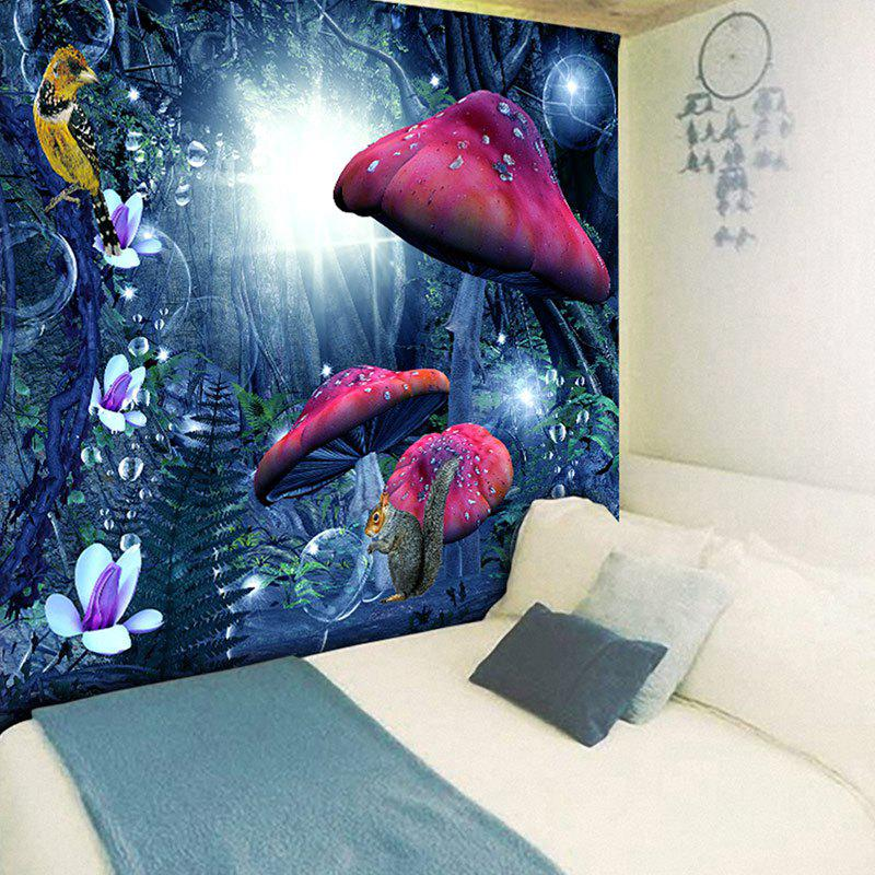 Magic Forest Print Wall Hanging Tapestry - BLUE W79 INCH * L59 INCH