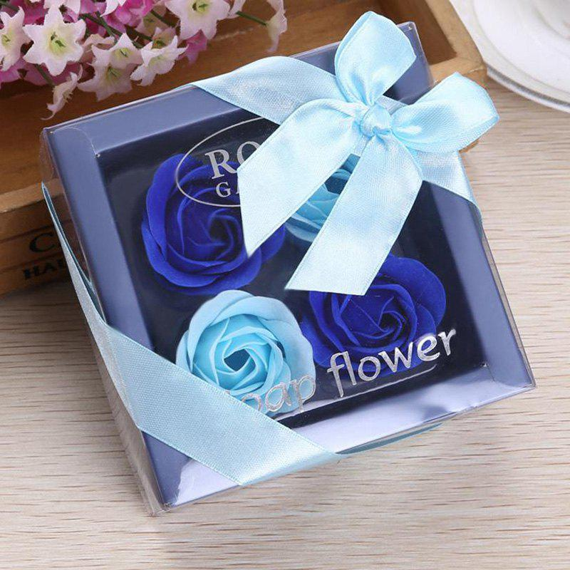 Soap Rose Flower In A Box Valentine's Day Gift - BLUE 11*11*5CM