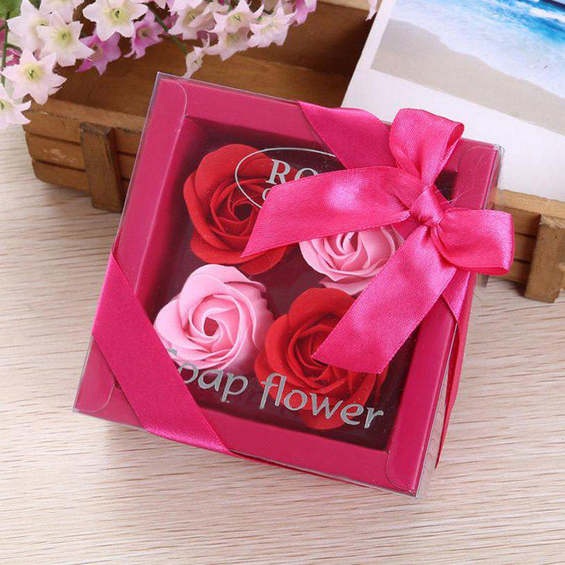 Soap Rose Flower In A Box Valentine's Day Gift - RED 11*11*5CM