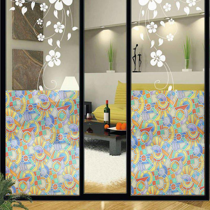 Geometric Figure Printed Glass Door Window Sticker geometric pattern door sticker