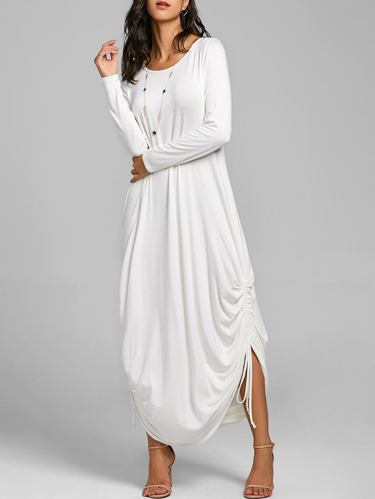 Drawstring Cocoon Jersey Maxi Dress drawstring cocoon jersey maxi dress