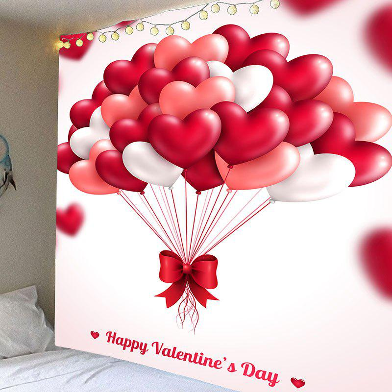 Valentine's Day Heart Balloon Pattern Wall Art Hanging Tapestry valentine s day heart starlight print tapestry wall hanging decoration