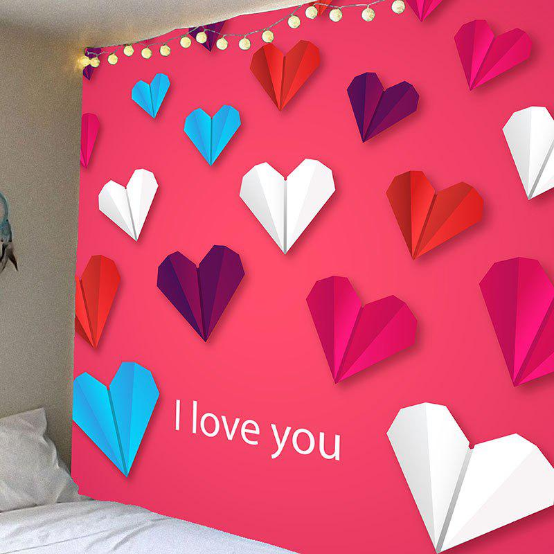 Valentine's Day Heart Paper Plane Pattern Hanging Tapestry