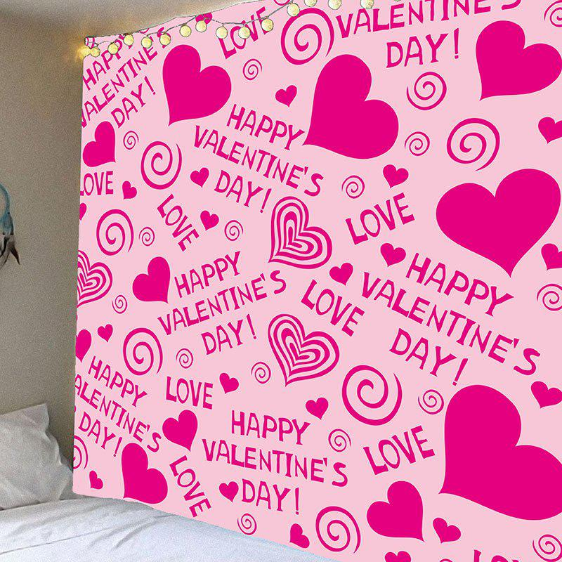 Valentine's Day Heart Printed Wall Art Decorative Tapestry valentine s day wine glass heart printed wall art tapestry