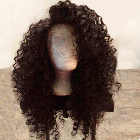 Long Side Parting Shaggy Deep Wave Synthetic Lace Front Wig - DEEP BROWN