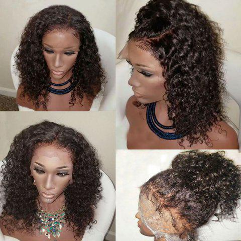 Medium Free Part Shaggy Water Wave Synthetic Lace Front Wig - DEEP BROWN